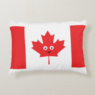 Canadian Maple Leaf Face Accent Pillow