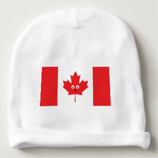 Canadian Maple Leaf Face Baby Beanie