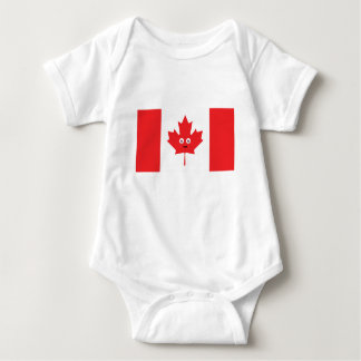Canadian Maple Leaf Face Baby Bodysuit