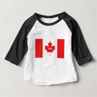 Canadian Maple Leaf Face Baby T-Shirt
