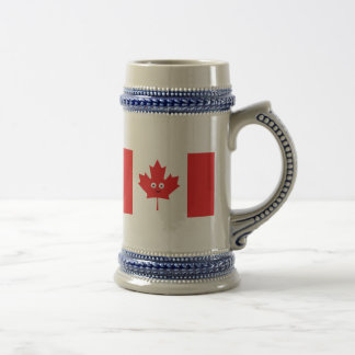 Canadian Maple Leaf Face Beer Stein