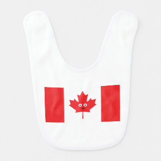 Canadian Maple Leaf Face Bib