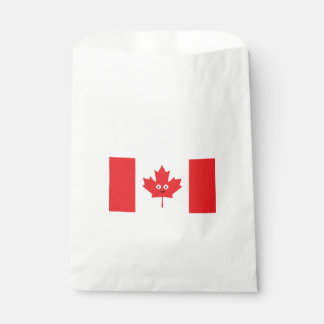 Canadian Maple Leaf Face Favour Bag