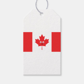 Canadian Maple Leaf Face Pack Of Gift Tags