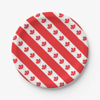 Canadian Maple Leaf Face Paper Plate