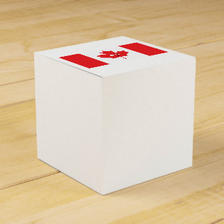 Canadian Maple Leaf Face Party Favor Box
