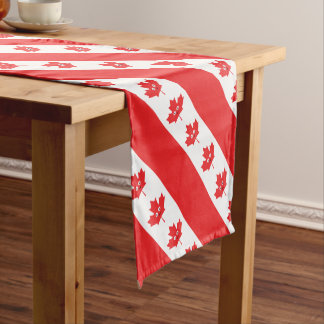 Canadian Maple Leaf Face Short Table Runner