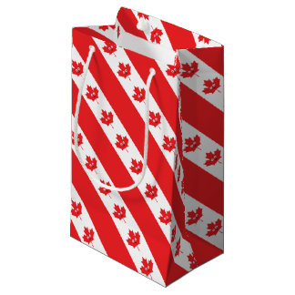 Canadian Maple Leaf Face Small Gift Bag