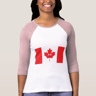 Canadian Maple Leaf Face T-Shirt
