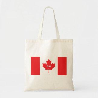Canadian Maple Leaf Face Tote Bag