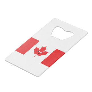 Canadian Maple Leaf Face Wallet Bottle Opener