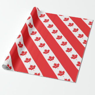 Canadian Maple Leaf Face Wrapping Paper