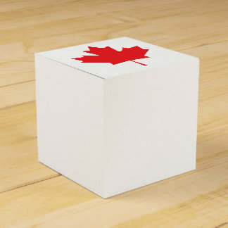 Canadian Maple Leaf Favor Box