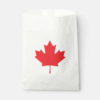 Canadian Maple Leaf Favour Bag