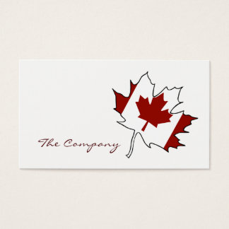 Canadian Maple Leaf Flag, Canada Business Card