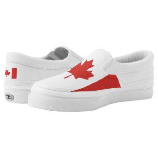 Canadian Maple Leaf Flag Slip-On Sneakers