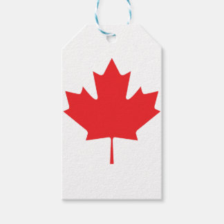 Canadian Maple Leaf Pack Of Gift Tags