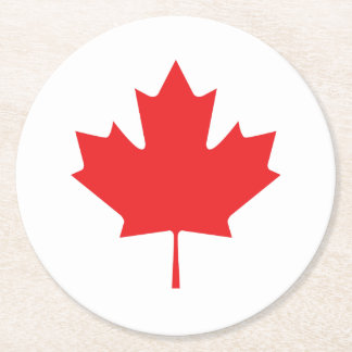Canadian Maple Leaf Round Paper Coaster