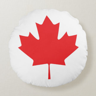Canadian Maple Leaf Round Pillow