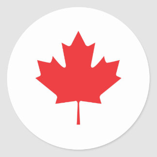 Canadian Maple Leaf Round Sticker
