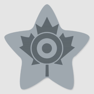Canadian Maple Leaf Roundel Mod Graphic Star Sticker
