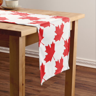 Canadian Maple Leaf Short Table Runner