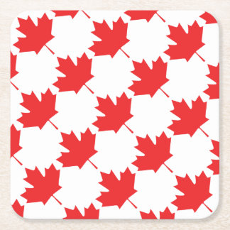 Canadian Maple Leaf Square Paper Coaster