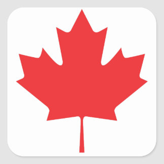 Canadian Maple Leaf Square Sticker