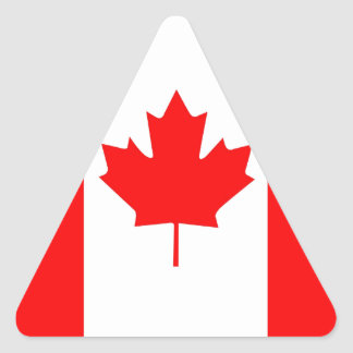 Canadian Maple Leaf Triangle Sticker