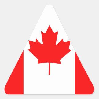 Canadian Maple Leaf Triangle Sticker
