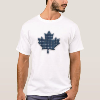 Canadian maple leaf with photovoltaic solar panels T-Shirt
