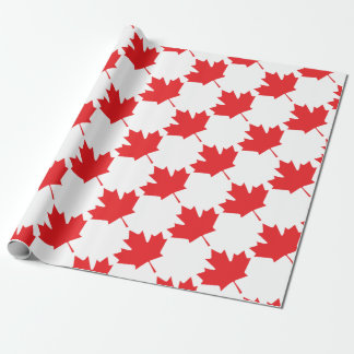 Canadian Maple Leaf Wrapping Paper