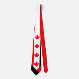 Canadian Maple on Red White Black Tie