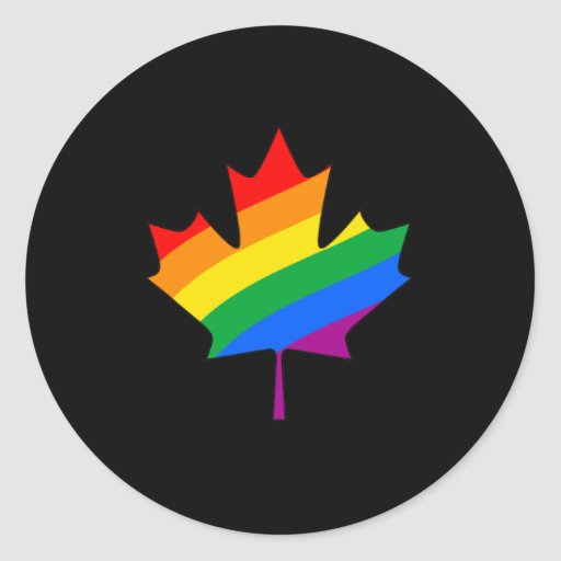 CANADIAN MAPLE PRIDE ROUND STICKERS