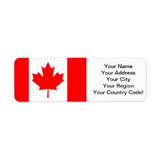 Canadian Maple Return Address Label