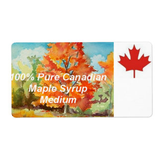 Canadian Maple Syrup Label Labels
