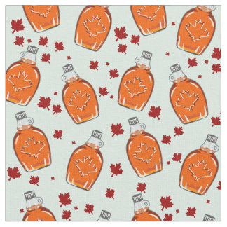 Canadian Maple Syrup Pattern Fabric