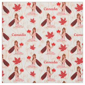 Canadian Mapleleaf Fairy on Light Fabric