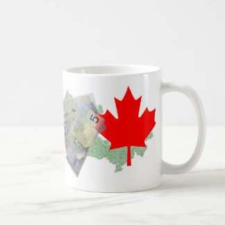 Canadian Money & Maple Leaf Mug