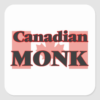 Canadian Monk Square Sticker