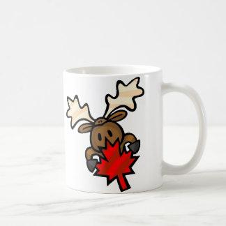 Canadian Moose Classic White Coffee Mug