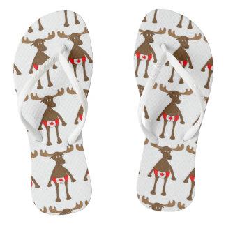 Canadian Moose Flip Flops