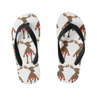 Canadian Moose Kid's Flip Flops