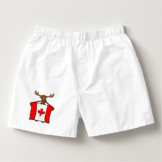 Canadian Moose with Flag Boxers