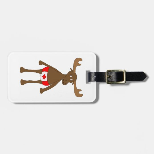 Canadian Moose without background Bag Tag