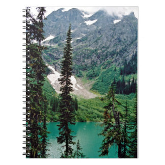Canadian mountain lake notebook
