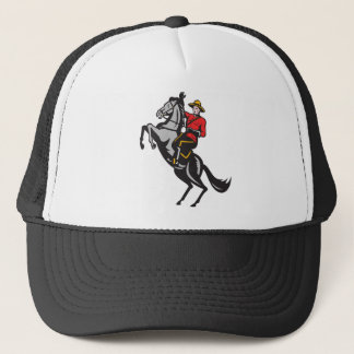 Canadian Mounted Police Mountie Riding Horse Trucker Hat