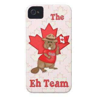 Canadian Mountie Beaver Maple Leaf  - Customize Case-Mate iPhone 4 Case