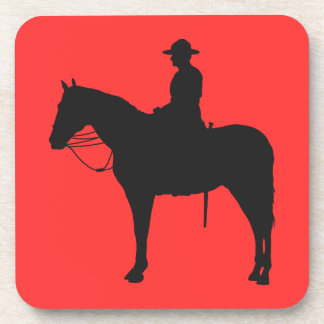Canadian Mountie Silhouette Coasters