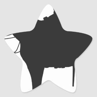Canadian Mountie Silhouette Star Sticker